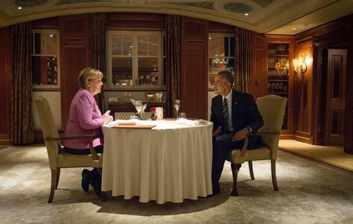 شام آخر اوباما و مرکل