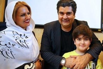 سالار عقیلی در کنار همسر و فرزندش +تصویر
