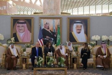 دونالد ترامپ و همسرش در عربستان +تصاویر