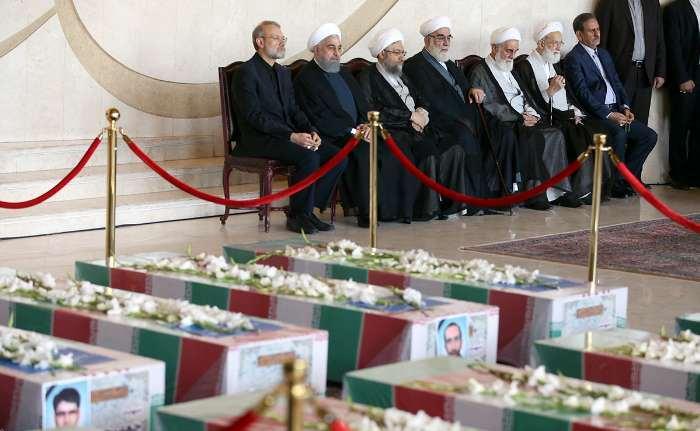 مراسم تشییع شهدای حملات تروریستی در تهران +تصاویر
