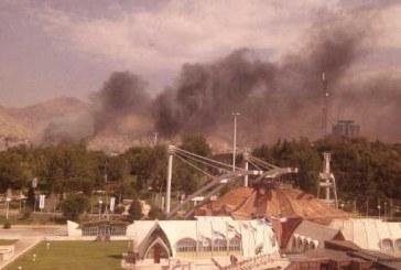 نمایشگاه بینالمللی تهران آتش گرفت +تصویر