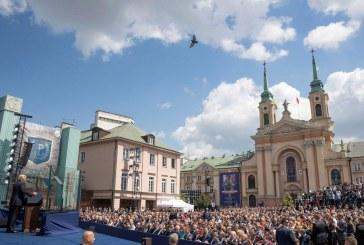 سخنرانی ترامپ برای مردم لهستان +تصویر