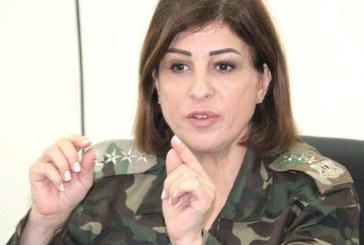 اولین زن سرلشکر در ارتش سوریه +تصویر