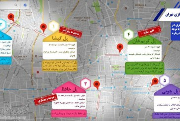 آخرین وضعیت 5 پل فلزی تهران +اینفوگرافیک