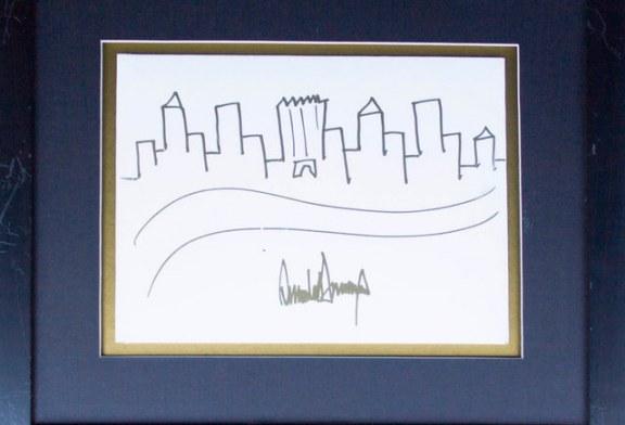 اثر هنری ترامپ ۳۰۰۰۰ دلار فروخته شد!