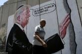 نقاشی ترامپ روی دیوار در فلسطین اشغالی
