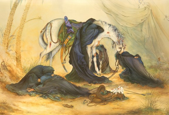 عصر عاشورا اثر فاخر استاد فرشچیان
