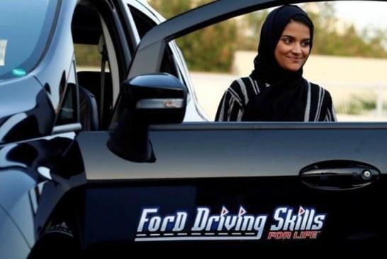 هیجان زنان عربستانی در مراکز آموزش رانندگی+ تصاویر