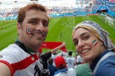 امین زندگانی و بانو در گران ترین ورزشگاه جامجهانی + تصویر