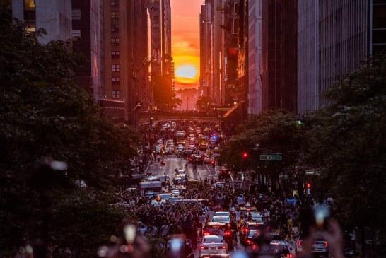غروب خورشید نیویورک + تصویر