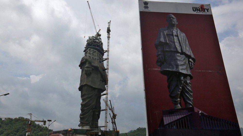 ساخت بلندترین مجسمه دنیا به کجا رسید؟