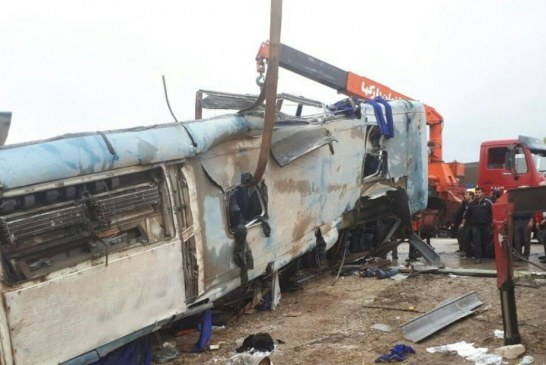 جزییات حادثه واژگونی اتوبوس دانش آموزان