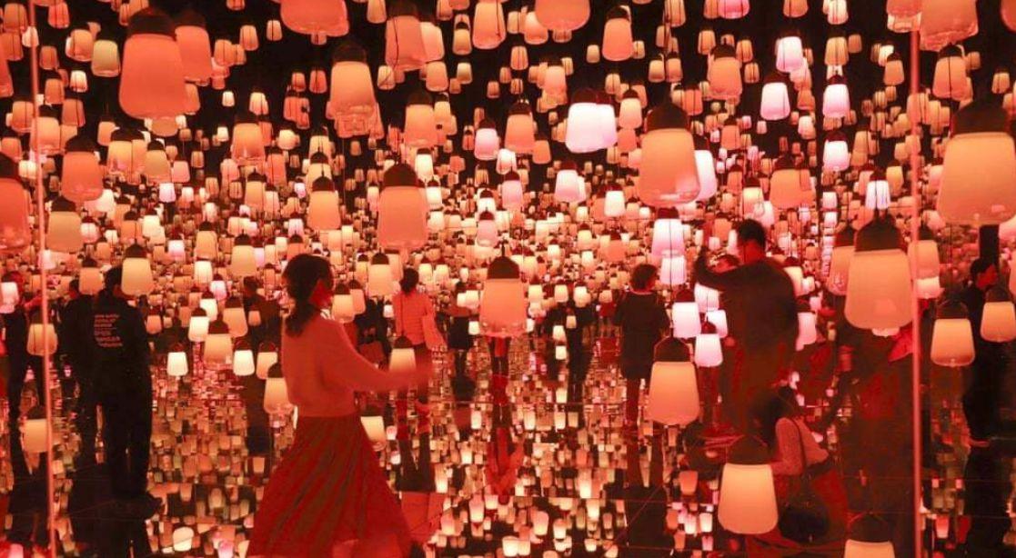 نمایی از نمایشگاه هنرهای دیجیتال در ژاپن