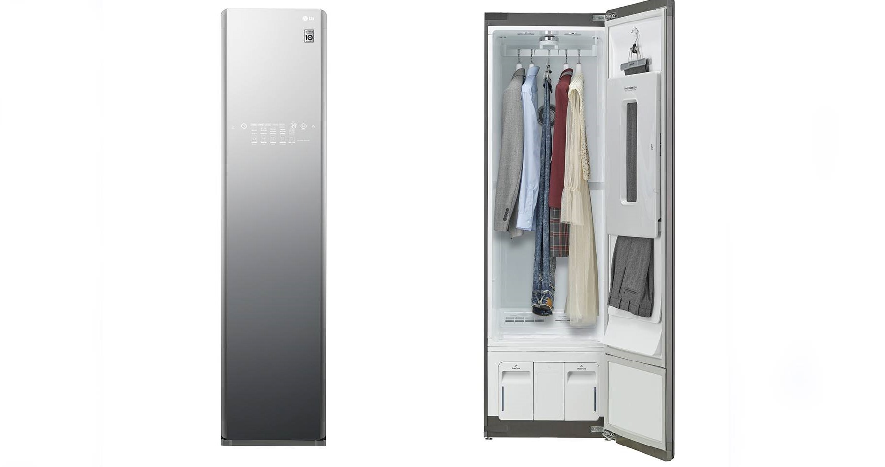 ال جی از آینه هوشمند و کمد لباس یکپارچه با دستیار گوگل اسیستنت رونمایی کرد