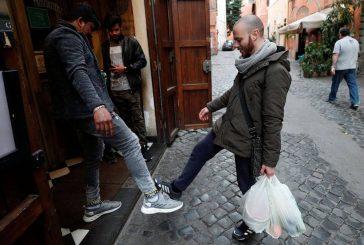 سلام و احوالپرسی کرونایی مردم روم ایتالیا