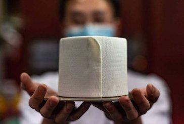 پخت کیک به شکل دستمال توالت در مالزی + تصویر
