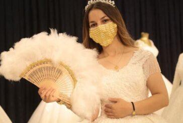 ماسک طلا برای عروس خانمها! + تصویر