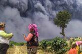فوران آتشفشان سینابونگ در اندونزی + تصویر