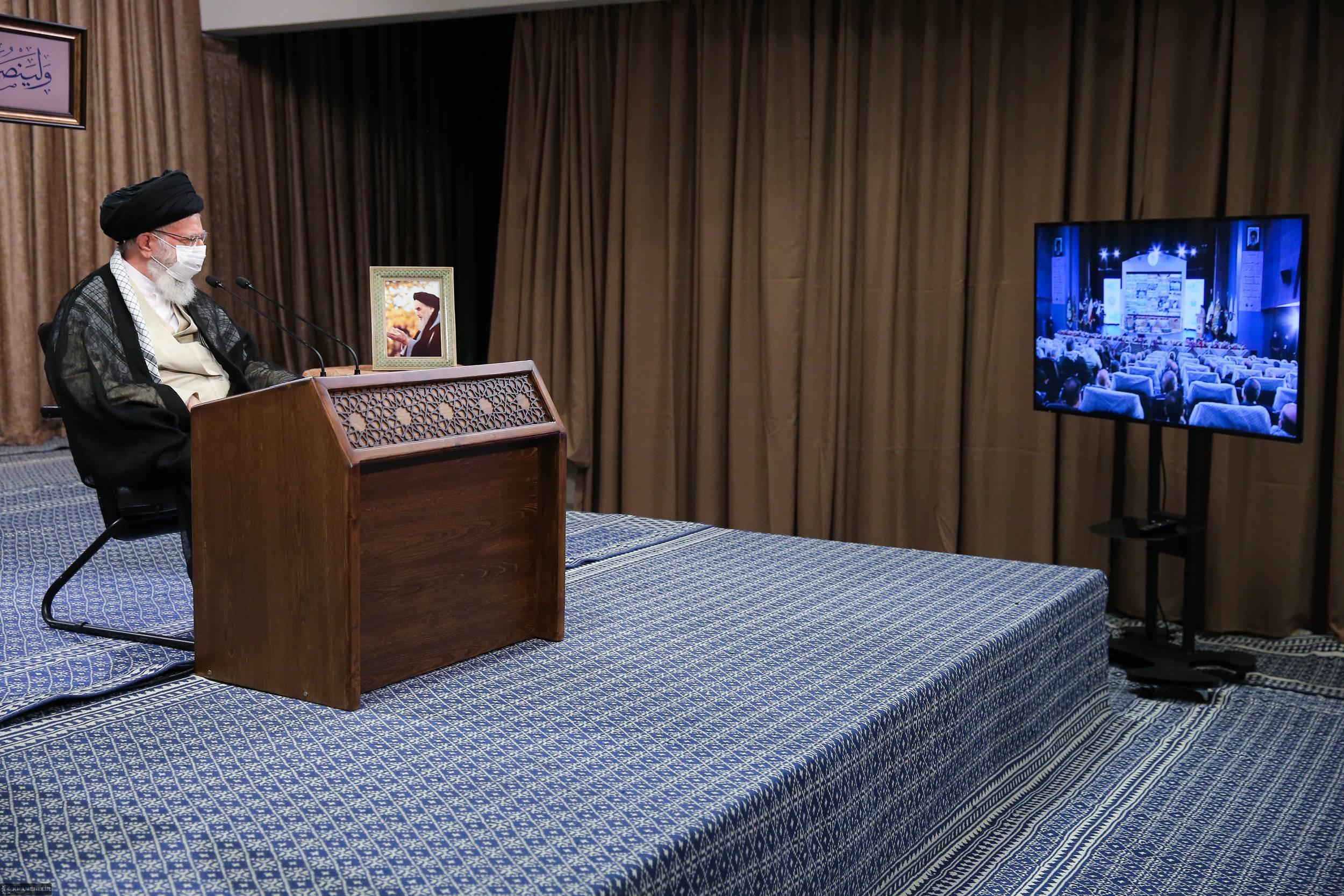سخنرانی تلویزیونی رهبر انقلاب در آئین تجلیل از پیشکسوتان دفاع مقدس