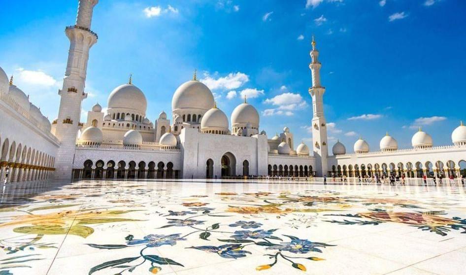 نمایی متفاوت از مسجد ابوظبی + تصویر