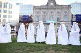 اعتراض متفاوت به خشونت علیه زنان + تصویر