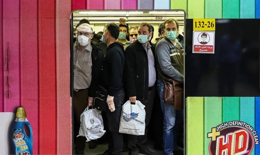 وضعیت عجیب مترو تهران + تصویر