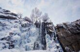 آبشار گنجنامه همدان یخ زد + تصویر