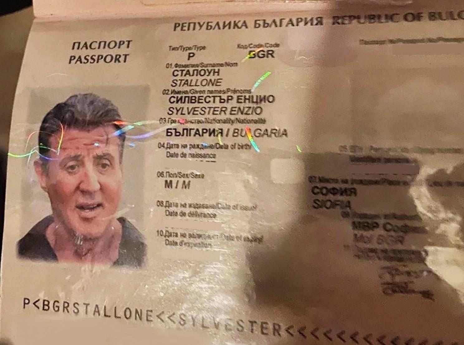 گذرنامه سیلوستر استالونه