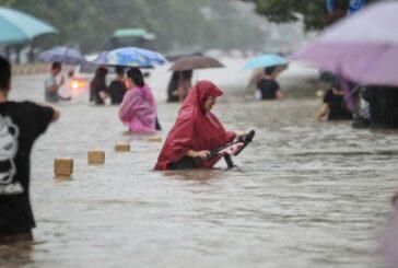 وقوع سیل شدید در چین + تصویر