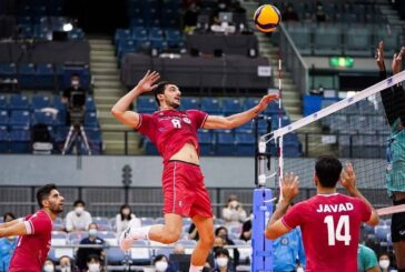 بلندقامتان والیبال ایران بر روی نوار پیروزی